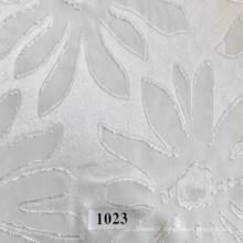 Tissu jacquard en polyester avec de grandes fleurs