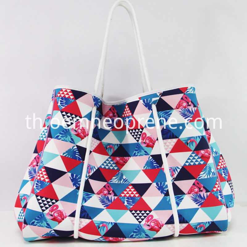 pattern beach bag
