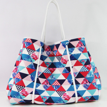 Printing pattern personalized perforated beach bag