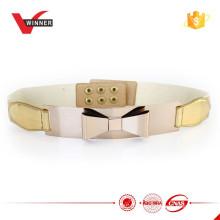 2015 Fashion Damen Gold elastische Metall Gürtel