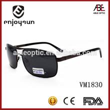 Óculos de sol de metal de grande tamanho de estilo europeu com padrões CE e FDA