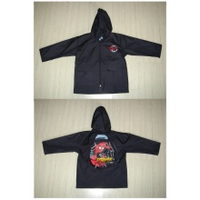 Yj-1135~1138 Packable Cute Toddlers Kids Girls Red Black Grey Hooded Rain Jacket