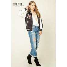 Mode-Stickerei-Baseball-Frauen-Jacke
