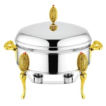 Oval Bentuk Chafing dishes atau Food Warmer