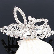 wholesale crystal tiara types of hair barrettes