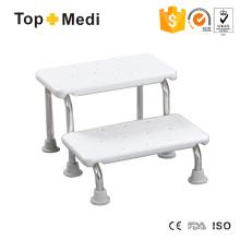 Fácil almacenamiento cómodo banco de baño portátil impermeable
