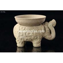 Jingdezhen cerâmica elefante forma chá filtro