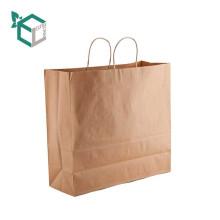Luxe en gros pas cher de luxe shopping guangzhou kraft sac en papier avec des logos