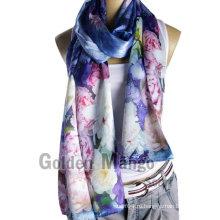 100% шелк цифровой печати моды шарфы