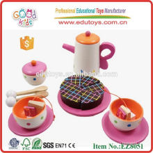 Juguete de madera del juego del té