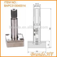 Válvula solenóide normalmente fechada de 3 vias Tubo de êmbolo de aço inoxidável
