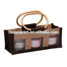 samill jute shopping wine gift bag wholesale,jute bag with zipper,waterproof jute drawstring tote bag canvas jute cheap