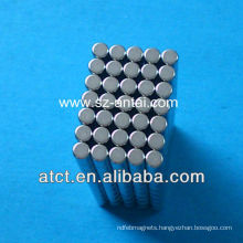 mini magnets,N35 cylinder neodymium magnets,nickel magnets