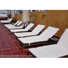Meubles de piscine en plein air Rattan Sun Loungers