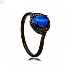 Bijoux de cuivre noir One Stone Jewelry Shop Intérieur perle Ring Design pour homme