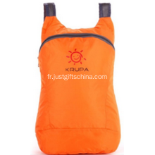 Sacs pliables en nylon de couleur orange promotionnels