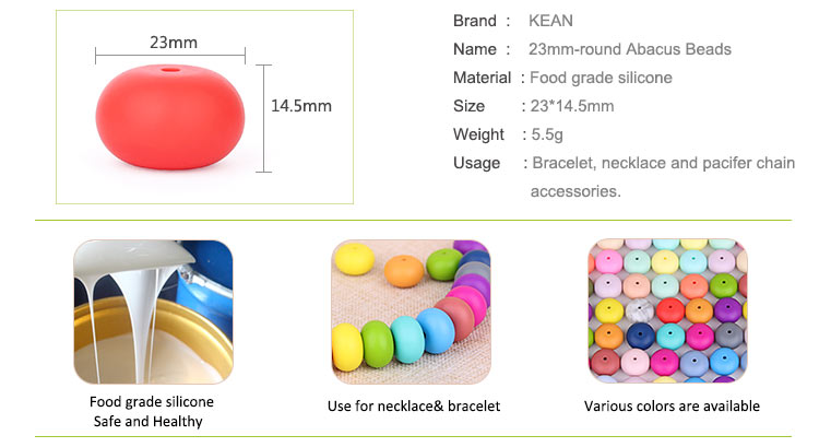 Food Grade Silicone Abacus Beads