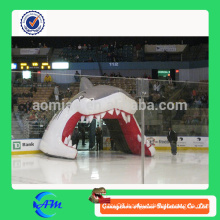 inflatable helmet tunnel tent, standard inflatable soccer ball tunnel