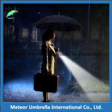 Mode Auto Open Spezielle LED Blitz Beleuchtung Regen Gerade Regenschirm