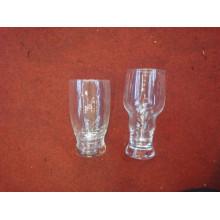 Vente en gros de verre à bière en verre de verre avec poignée Kb-Hn0565