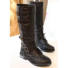 2016 novo estilo de botas de couro moda senhora (wz-03)
