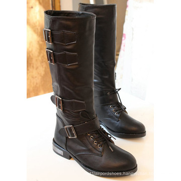 2016 New Style of Fashion Lady Leather Boots (WZ-03)