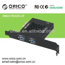 PCI-Express-Karte erweitert mit 2ports USB3.0 Hochgeschwindigkeitsschnittstelle