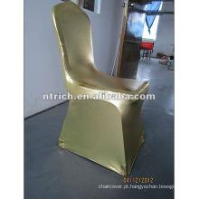 Ouro carimbo Spandex tampa da cadeira, tampa da cadeira banquete/Hotel, tampa da cadeira do casamento