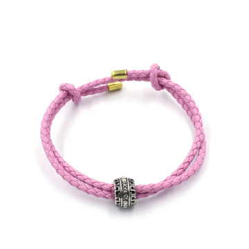OEM Fashion Bracelets Jewelry Custom Bead Charm Leather Bracelet