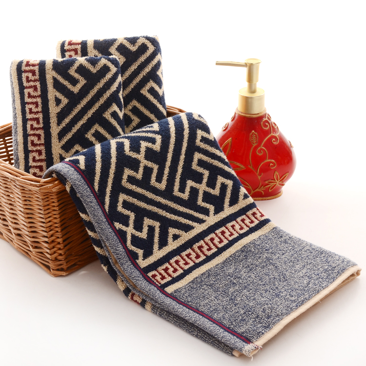 Towels Geometry Jacquard Design