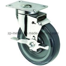 Rodas de rodízio Biaxial de tamanho médio com freio