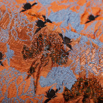 Jacquard orange chaud pour robe