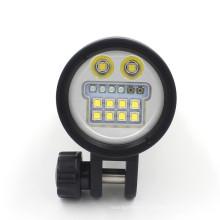 5200 High Lumen Tauch-Taschenlampe Factory-Preis Flood-Spot-Red-UV-SOS-Modus mit wiederaufladbarem Akku