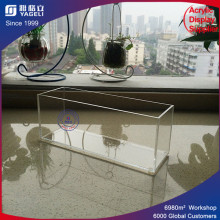 Fashionable Clear Acrylic Brush Holder with Lid