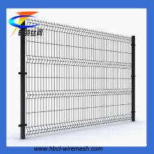 Высокое качество ПВХ покрытием треугольник изгиб забор (ISO9001 завод)