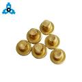 Solid Blind Rivets Brass Flat Head Metal Pin