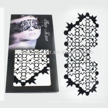 Tatouages faits sur commande de tatouage de transfert de l'eau de visage / maquillage provisoire pour Halloween