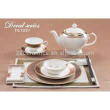 Colores de impresión de estilo español juego de vajilla, cerámica excelente artículos para el hogar