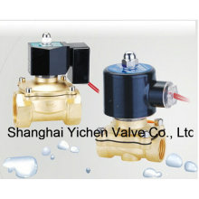 Vanne électromagnétique de filetage en laiton normalement fermée de diaphragme (YC2W-C)
