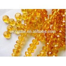 Diamante falso cristal grande contas rondelle