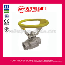Poignée ovale en acier inoxydable 304 robinet à boisseau sphérique robinets à boisseau sphérique