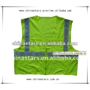 high visibility running reflective safety vest