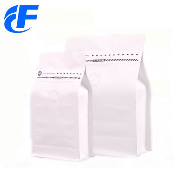High quality white kraft paper coffee packaging bag