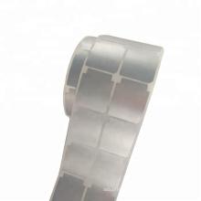 Matt prata impressão térmica etiqueta scratch resistente a óleo à prova d 'água matt prata pet rótulo eletrônico de poliéster