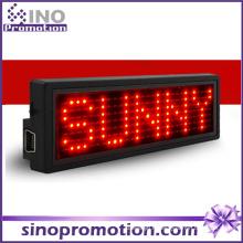 Étiquette de nom de LED