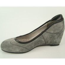 black wedge large ladies pumps size 44