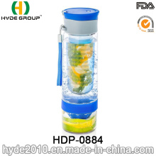 Customized BPA Free Tritan Fruit Infusion Bottle, Portable Plastic Fruit Infuser Water Bottle (HDP-0884)