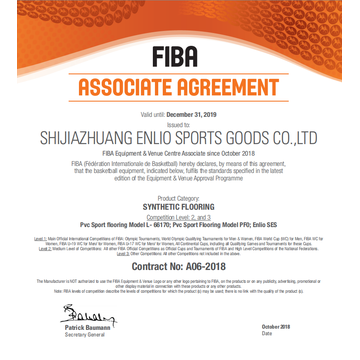 Enlio Brand FIBA ​​Approved SES Basketball Court Tiles