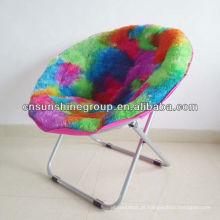 Foldable canvas saucer moon chair
