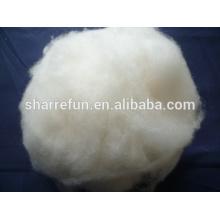100%Pure Dehaired Chinese Mercerized White Sheep Wool